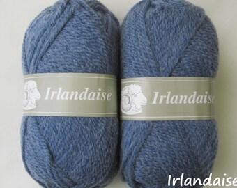 10 balls of wool Irish / brand / Denim Blue