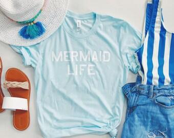 Adult MERMAID LIFE - Tri-blend T-Shirt- UNISEX