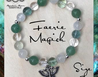 Faerie Magick crystal healing bracelet