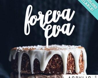 Foreva eva Wedding Cake Topper, Laser Cut, Acrylic Art Design