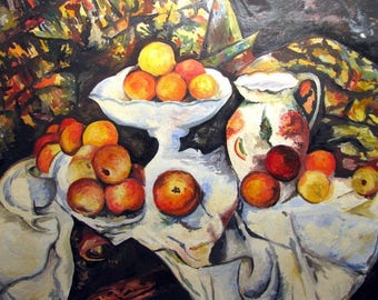 """Placemat Cézanne """"still life with apples and in the"""""""