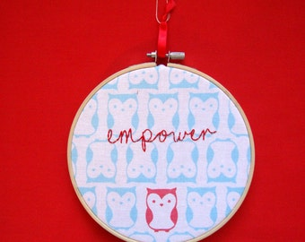Embroidered Owl- Empower