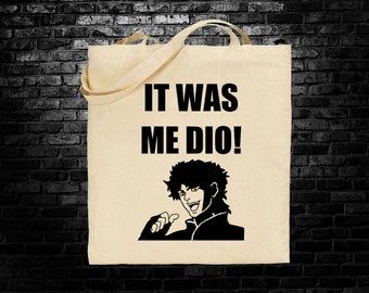 Dio from Jojo's Bizarre Adventure meme inspired tote bag long handles shoulder