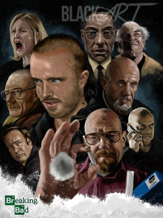 Walter White Heisenberg Breaking Bad original canvas on