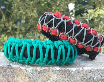 Stitched Paracord Bracelet, summer splash of colors with a stitch