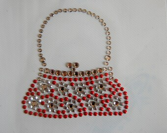 Red Nailhead Purse Heat Transfer