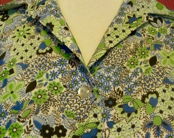 Vintage Floral Blouse Montgomery Ward