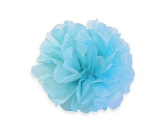 10 Inch Blue Tissue Pom Poms - Paper Party Decor Decoration Supplies