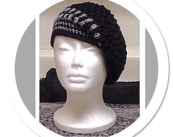 Made To Order Women's Crochet Tam, Women's Beret, Women's Winter Hat