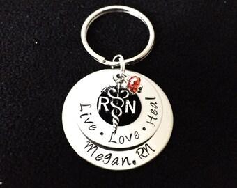 RN Nursing School Graduation Gift Key Chain Nurse Keychain For Him or Her- Registered Nurse Gift -Registered Nurse Keychain- RN Gift,Nurse
