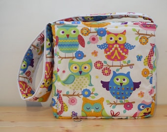 Diapers bag,owls diapers bag,baby bag,carriage bag,quilted bag,maternity bag,baby travel bag,baby shower gift,baby diaper bag,baby shower