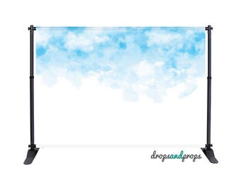 Watercolor Clouds - Photography Backdrop
