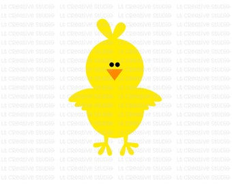 easter svg chick svg easter chick svg cute easter chick svg silhouette - Easter Chick