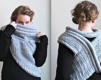 PDF Instant Download // Cross-Body Cowl Huntress Vest Knitting/Crochet Pattern