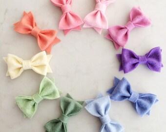 Felt Bow Hair Clips - choose your colors