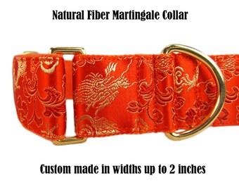 Martingale Collar, Game of Thrones Martingale, Dragon Dog Collar, Orange Dog Collar, Greyhound Collar, Whippet Collar, Martingale Dog Collar