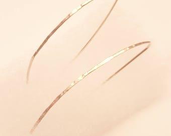 hammered silver dangle earrings