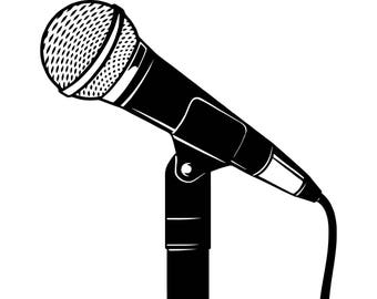 microphone clipart etsy rh etsy com microphone clipart images microphone clipart free