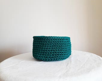Recycled cotton - green basket
