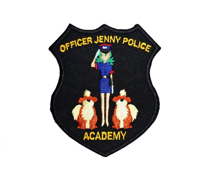 Officer Jenny Police Academy Pokemon Inspired Patch | Hand Made Patch | Pokemon Patch