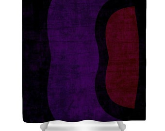 Wine Wood Shower Curtain,Purple Black Red Bathroom Curtain,Rustic Bathroom Decor,Accessories,Modern Art Shower Curtain