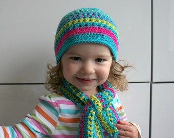 Crochet hat pattern, crochet hat and scarf set pattern, crochet baby hat set pattern (75) 5 sizes INSTANT DOWNLOAD
