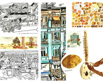 A Travel Sketchbook **pre order** - illustrations from South East Asia - Katie Chappell 2016