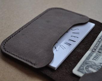 Leather Cardholder Wallet Genuine Leather