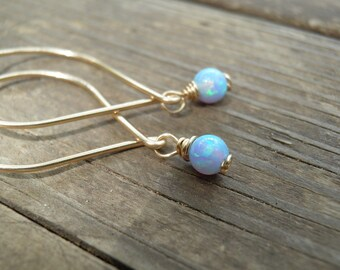 Opal Earrings, Opal Dangle Earrings, White Opal, Blue Opal Dangle Earrings, Blue Opal Earrings ,Silver Dangle Earrings ,october birthstone