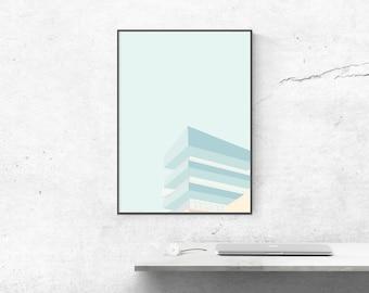 Affiche 50x70 poster graphic design architecture illustration ArchiEtage
