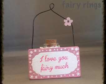 I Love You Fairy Much Small Plaque