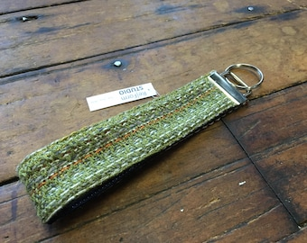HANDWOVEN Key Fob - RED + GREEN