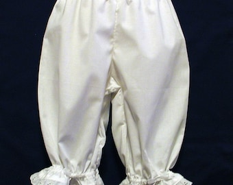 White  Lacy Ruffled Bloomers Girls Size 8