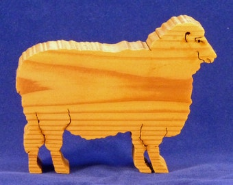 Small Cedar Ewe Sheep Cut-Out