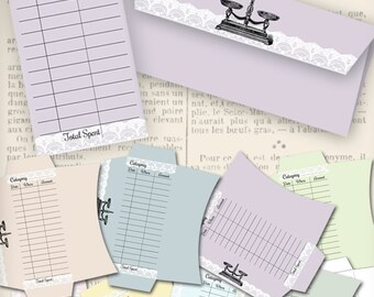Printable Budget Envelopes organizing frugal printable hobby crafting scrapbooking instant download digital collage sheet - VDENRE0390