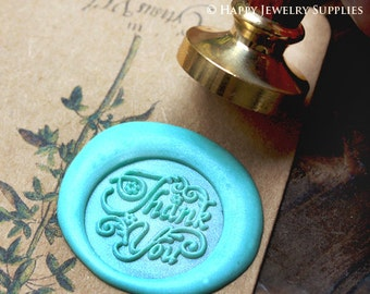Buy 1 Get 1 Free - 1pcs Thank You Gold Plated Wax Seal Stamp (WS039)