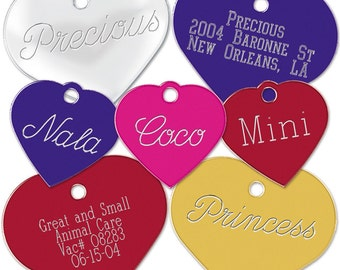Small Heart Pet ID Tag with Split Ring