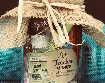 A+ Teacher's Gift in Mason Jar