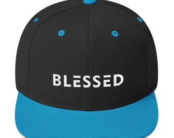 Blessed Flat Bill Snapback Hat