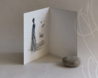 "Martinefa's Postcard ""Songe"" - Card to open - 10 x 15 cm"