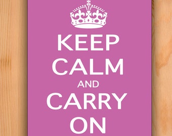 Mousepad Keep Calm Carry On Pink