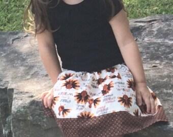 Gobble Gobble   Skirt (18 mos,  2T, 3T, 4T, 5, 6, 7)