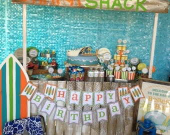 DIY, Surf's Up Birthday PARTY PACK