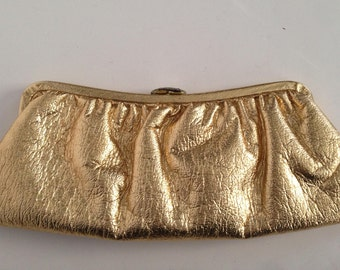 Gold Lame' Clutch