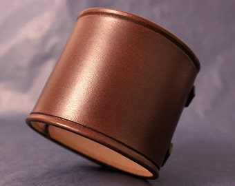 Leather Cuff Wristband Brown Johnny Depp inspired 2.5 Inch
