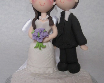 Personalized wedding cake topper, custom wedding cake topper, romantic cake topper
