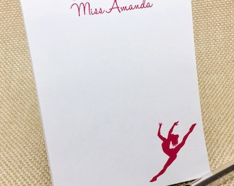 Personalized Dance Notepad - Dance Teacher Gift - Dance Notepad - Custom Notepad - Custom Stationery - Teacher Appreciation - Gymnast