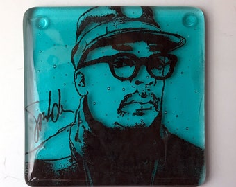 Spike Lee Fused Glass Coaster, Director Coaster, Icon Coaster