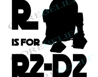 Disney silhouette clipart etsy uk digital download png jpeg and pdf r is for r2d2 cute solutioingenieria Images