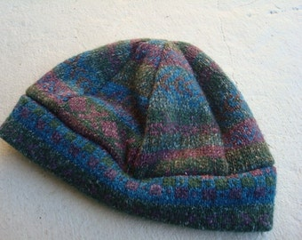 Recycled Soft Wool and Silk Unisex Colorful Beanie Hat - Innsbruck 145C
